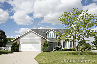 Suburban Two Story Home Royalty Free Stock Photography