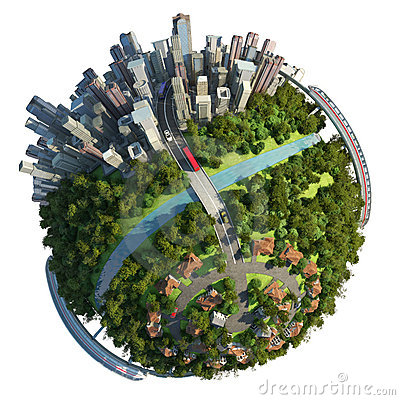 Free Suburbs And City Globe Concept Stock Photography - 22434412
