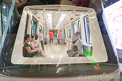 Subway APM line in guangzhou Editorial Image