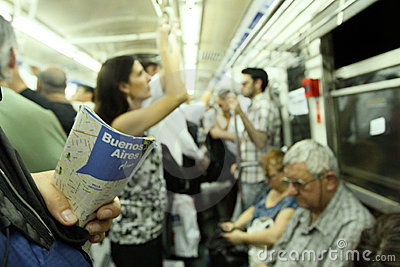 Subway in Buenos Aires Editorial Photography