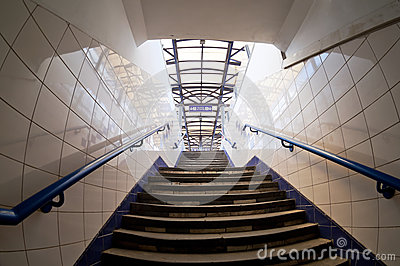 Subway exit.