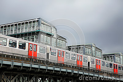 Subway in Hamburg Editorial Stock Image