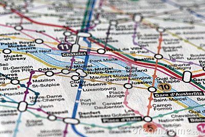 Subway map - Paris