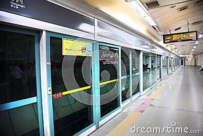 Subway - metro Korea Editorial Photography