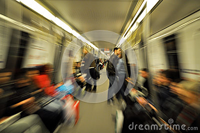Subway motion Editorial Stock Image