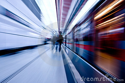 Subway speeding by