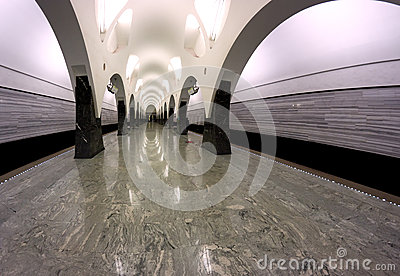 Subway station interior Moscow