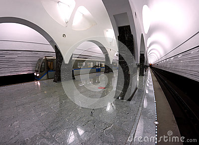 Subway station Moscow train
