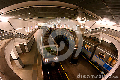 Subway station Moscow trains