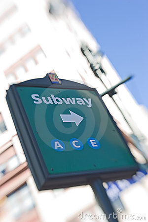 Subway station in New York