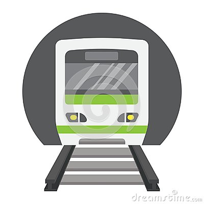 Free Subway Train Flat Icon, Transport And Railway Stock Photos - 101164843