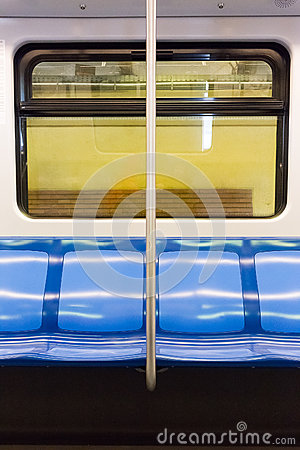 Free Subway Train Seats Stock Image - 67006601