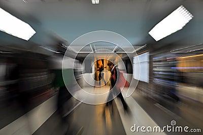 Subway Editorial Stock Image