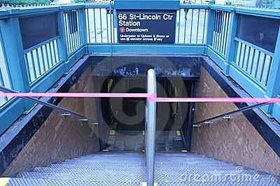 Subways closed due to Hurricane Irene Editorial Photography
