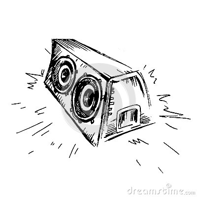 Free Subwoofer Sketch Icon. Simple Illustration Of Subwoofer  Icon For Web Stock Image - 90734931