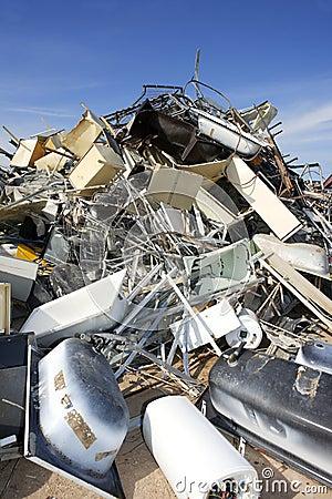 A sucata de metal recicl o ambiente ecológico da fábrica