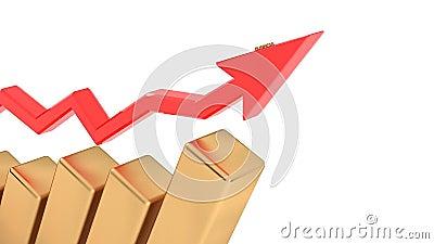 Succès dans les affaires, croissance économique d'une entreprise, pour être réussi dans tout Diagramme d'accroissement illustration stock