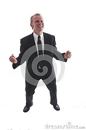 Succesful man in black suit
