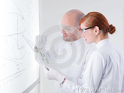 Succesful teacher showing samples