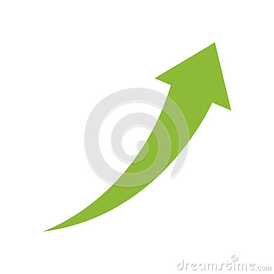 Success arrow up Cartoon Illustration
