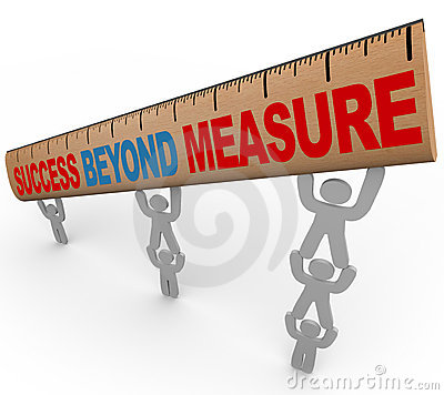 Free Success Beyond Measure - Team Lifting Ruler Royalty Free Stock Photo - 17782595