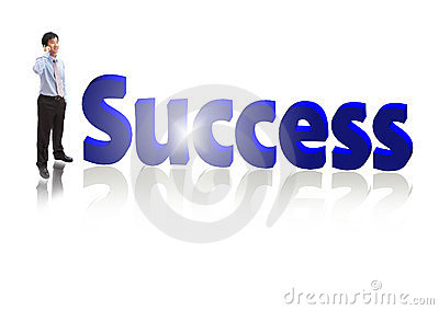 Success Business man Speaking mobile phone
