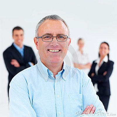 Success in business - Successful businessman