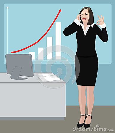 Free Success Business Woman Shows Ok Sign Royalty Free Stock Image - 28732316