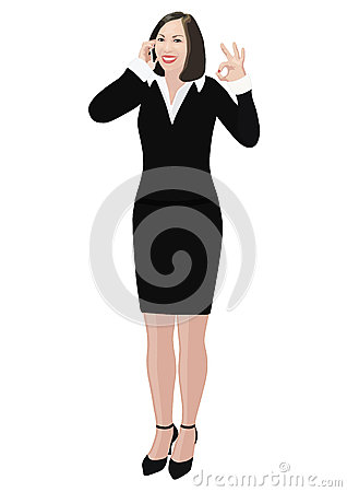 Free Success Business Woman Shows Ok Sign Stock Image - 28781201