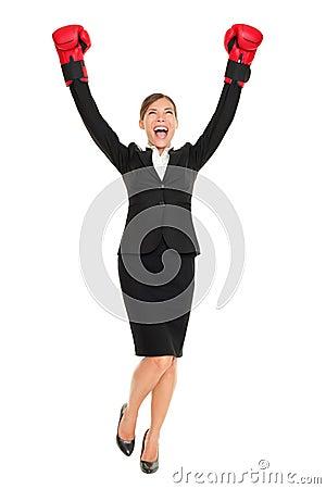 Success business woman standing
