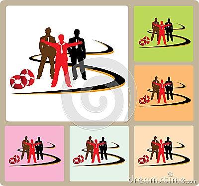 Success businessman team