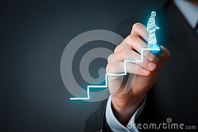 Success in career Stock Photo