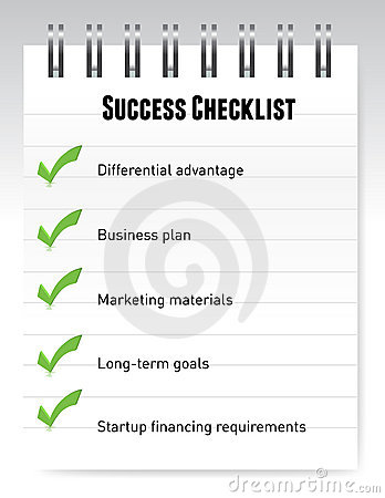 Success checklist notepad illustration design