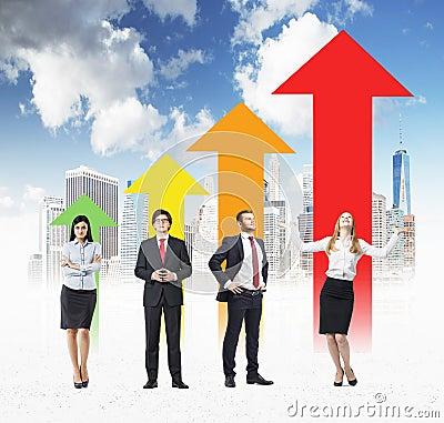 Free Success Concept Arrow Chart Stock Images - 73451754