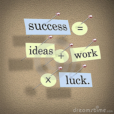 Free Success Equals Ideas Plus Work Times Luck Stock Images - 11700174