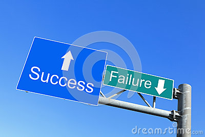 Success or Failure - road signs
