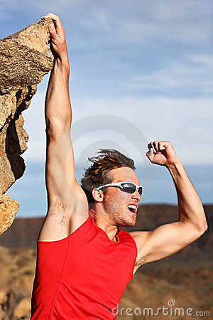 Free Success Man Climbing Royalty Free Stock Image - 20153696