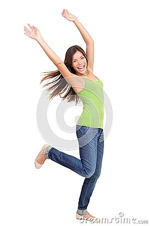 Free Success People Winning: Woman Dancing Stock Photos - 18306293