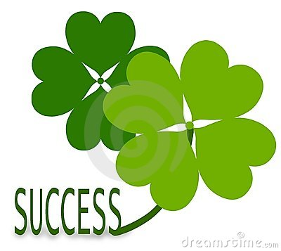 shamrocks and the success word on white background mr no pr no 2 812 2