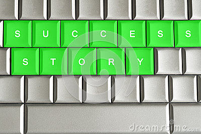 Success Story spelled on a keyboard