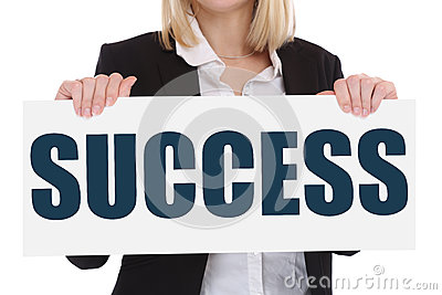 Success successful growth finances career business concept leade