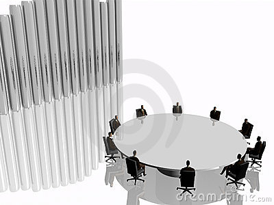The success team in the meeting room in conference.
