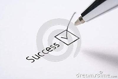 Success tickbox