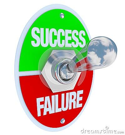 Free Success Vs Failure - Toggle Switch Stock Photo - 18612580