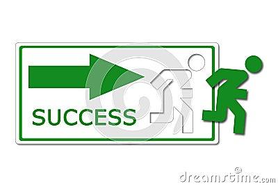 Success way icon