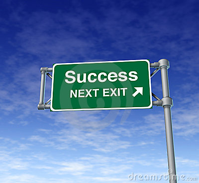 Success win Freeway Exit Sign highway street symbo