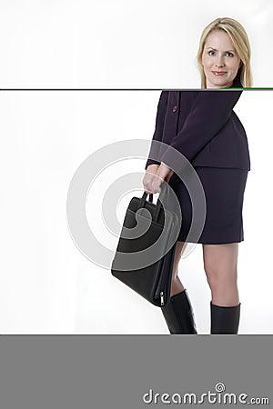 Successful blonde business woman