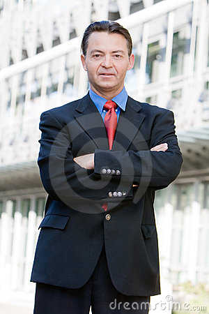 Successful Business Man Posing Royalty Free Stock Photo - Image: 8280705