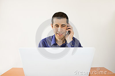 Successful business man talking with the phone