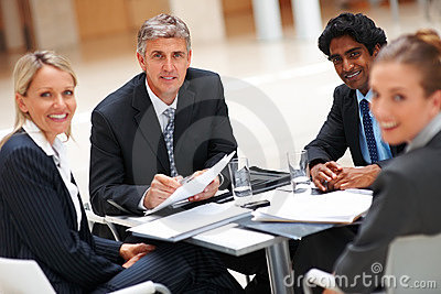Successful business people sitting in the office